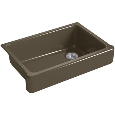 """Whitehaven Self-Trimming 32-1/2"""" L x 21-9/16"""" W x 9-5/8"""" Under-Mount Single-Bowl Sink with Short Apron Finish: Suede"""