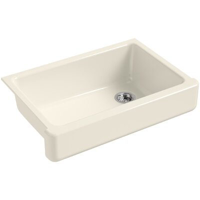"""Whitehaven Self-Trimming 32-1/2"""" L x 21-9/16"""" W x 9-5/8"""" Under-Mount Single-Bowl Sink with Short Apron Finish: Almond"""