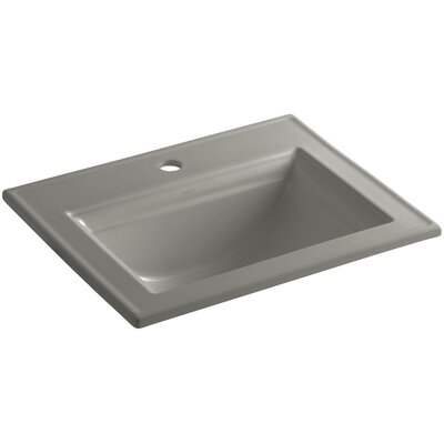 Memoirs Ceramic Rectangular Drop-In Bathroom Sink with Overflow Finish: Cashmere