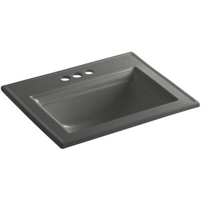 Memoirs Ceramic Rectangular Drop-In Bathroom Sink with Overflow Finish: Thunder Grey