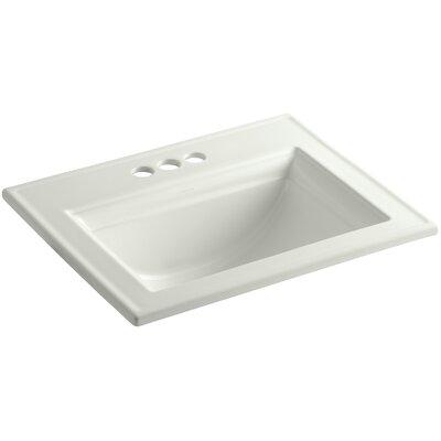 Memoirs Ceramic Rectangular Drop-In Bathroom Sink with Overflow Finish: Dune