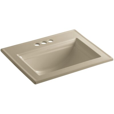 Memoirs Ceramic Rectangular Drop-In Bathroom Sink with Overflow Finish: Mexican Sand