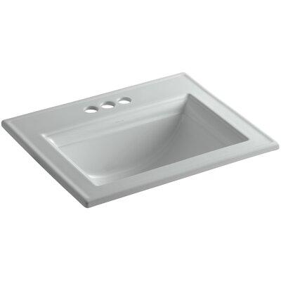 Memoirs Ceramic Rectangular Drop-In Bathroom Sink with Overflow Finish: Ice Grey