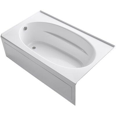 "Windward 72"" x 42"" Air Bathtub Finish: White, Drain Location: Left"