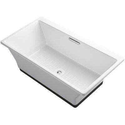 "Reve 67"" x 36"" Freestanding Bathtub with Brilliant Ash Base"