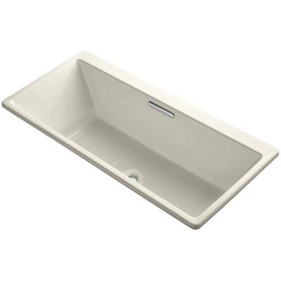 "Reve 67"" x 32"" Soaking Bathtub Finish: Almond"