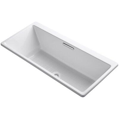 "Reve 67"" x 32"" Soaking Bathtub Finish: White"