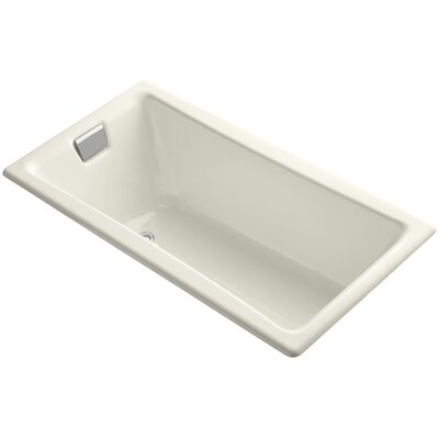 """Tea for Two for Two 60"""" x 32"""" Soaking Bathtub Finish: Biscuit"""