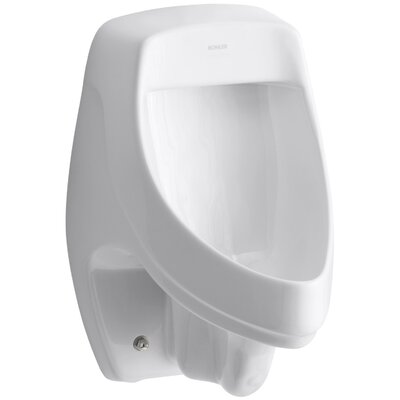 Dexter Siphon-Jet Wall-Mount 1/2 GPF Urinal with Rear Spud Finish: White