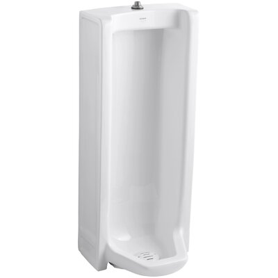 Branham Washout Floor-Mount 1 GPF Urinal with Top Spud Finish: White