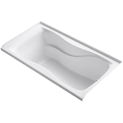 "Hourglass Alcove 60"" x 32"" Soaking Bathtub Finish: White"