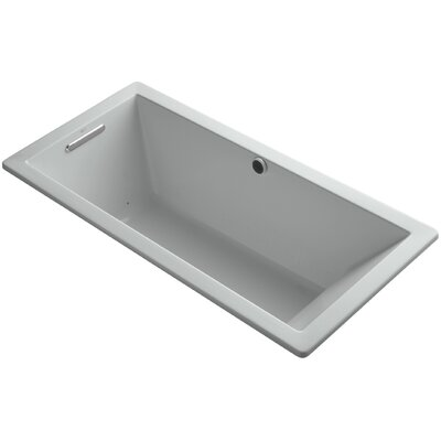 "Underscore 66"" x 32"" Air Bathtub Finish: Ice Grey"