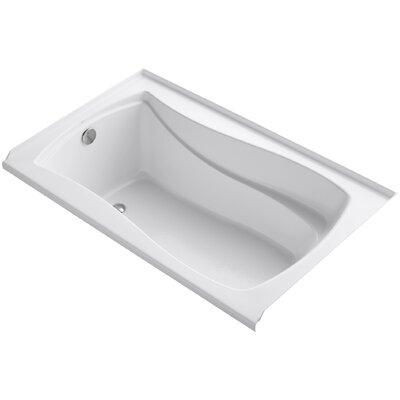 "Mariposa Alcove 60"" x 36"" Soaking Bathtub Finish: White"