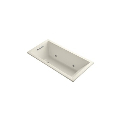 "Underscore 60"" x 30"" Soaking Bathtub Finish: Almond"