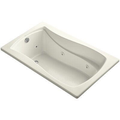 "Mariposa 60"" x 36"" Whirlpool Bathtub Finish: Biscuit"