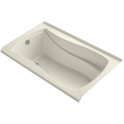 "Mariposa Alcove 60"" x 36"" Soaking Bathtub Finish: Almond"