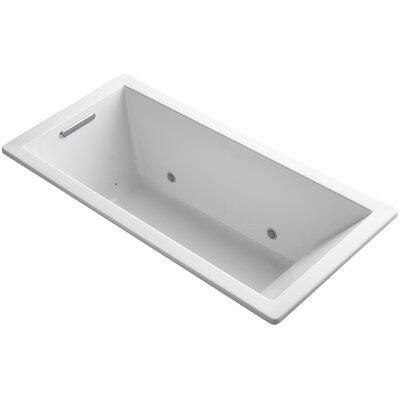 "Underscore 66"" x 32"" Air Bathtub Finish: White"