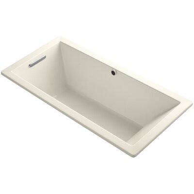 "Underscore 66"" x 32"" Soaking Bathtub Finish: Almond"