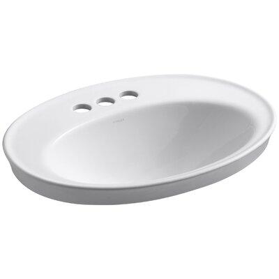 "Kohler Serif Drop-In Bathroom Sink with 4"" Centerset Faucet Holes"