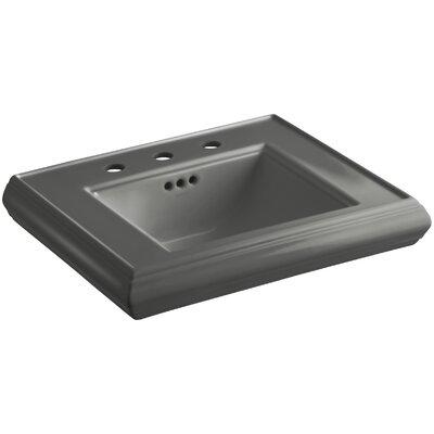"Memoirs Ceramic 24"" Pedestal Bathroom Sink with Overflow Finish: Thunder Grey"