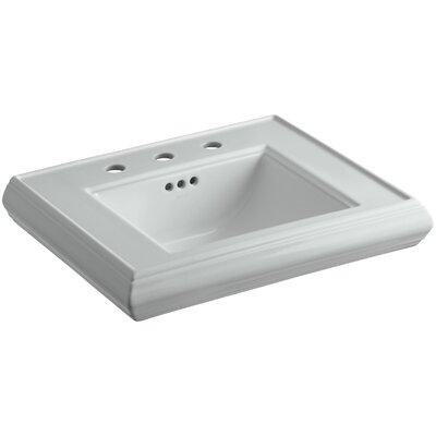 "Memoirs Ceramic 24"" Pedestal Bathroom Sink with Overflow Finish: Ice Grey"