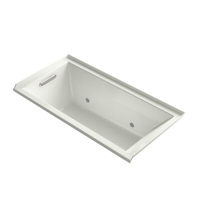 "Underscore 60"" x 30"" Soaking Bathtub Finish: Dune, Drain Location: Left"