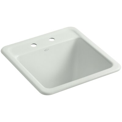 Park Falls Top-Mount/Undermount Utility Sink with Two Faucet Holes Finish: Sea Salt