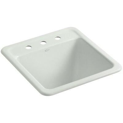 Park Falls Top-Mount/Undermount Utility Sink with Three Faucet Holes Finish: Sea Salt