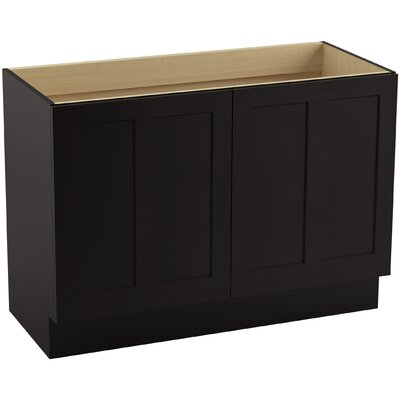 "Poplin 48"" Vanity with Toe Kick and 2 Doors Finish: Batiste Black"