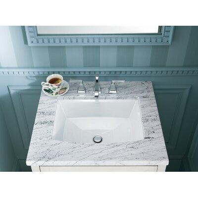 Archer Ceramic Rectangular Undermount Bathroom Sink with Overflow Sink Finish: White