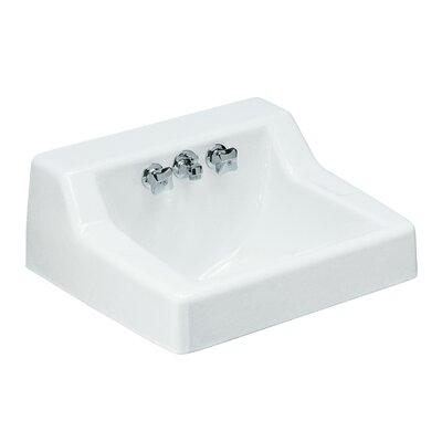 """Hampton Metal 22"""" Wall Mount Bathroom Sink with Faucet and Overflow"""