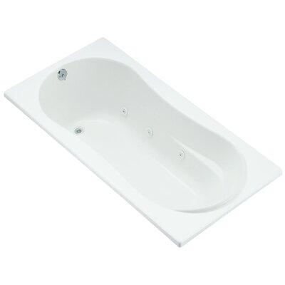 "Proflex 72"" x 36"" Whirlpool Bathtub Finish: White"