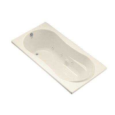 "Proflex 72"" x 36"" Whirlpool Bathtub Finish: Almond"