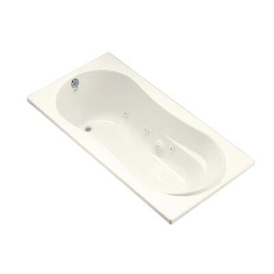 "Proflex 72"" x 36"" Whirlpool Bathtub Finish: Biscuit"