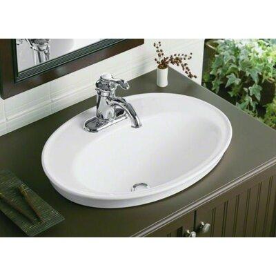 Kohler Serif Drop In Bathroom Sink With Single Faucet Hole