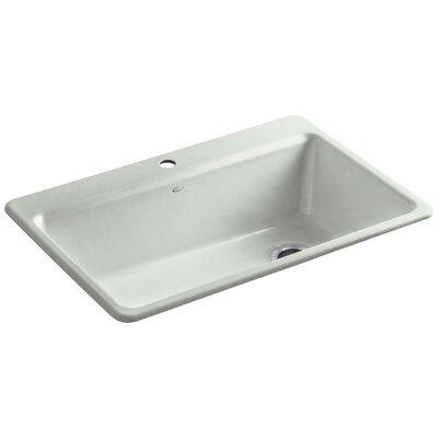 "Riverby 33"" L x 22"" W x 9-5/8"" Top-Mount Single-Bowl Kitchen Sink with Accessories Finish: Sea Salt"