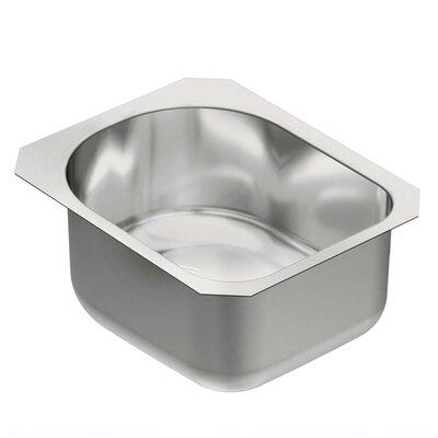 """1800 Series 18.5"""" L x 15"""" W Single Bowl Kitchen Sink"""