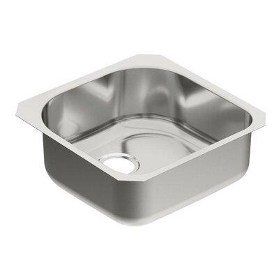 """1800 Series 20"""" L x 20"""" W Single Bowl Kitchen Sink"""
