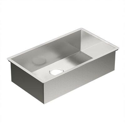 """1800 Series 31.25"""" L x 18"""" W Single Bowl Kitchen Sink"""