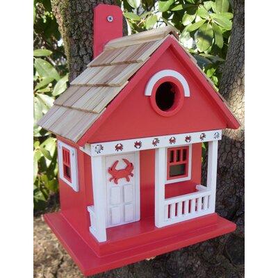 Beachcomber Crab Cottage 9.5 in x 8 in x 8 in Birdhouse