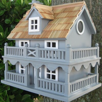 Classic Novelty Cottage 10.5 in x 7.5 in x 11 in Birdhouse Color: Blue