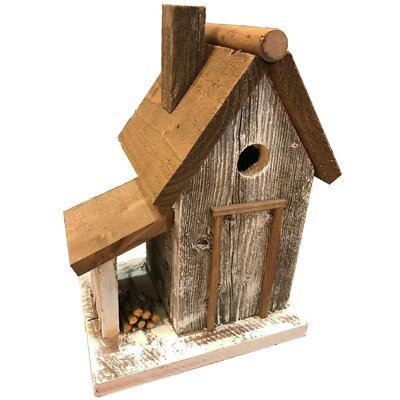 "Warwick 13"" H x 8"" W x 10"" D Birdhouse Color: White"