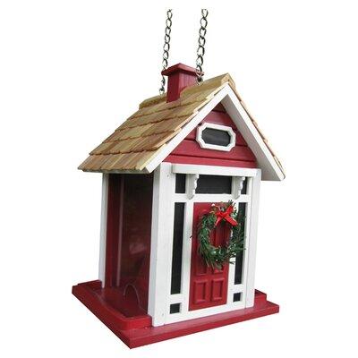 Home Bazaar Holiday Offerings Christmas Cottage Decorative Hopper Bird Feeder