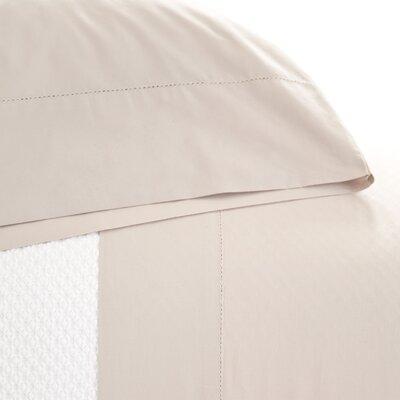 Classic Hemstitch 400 Thread Count 100% Cotton Sheet Set Size: Twin, Color: Platinum