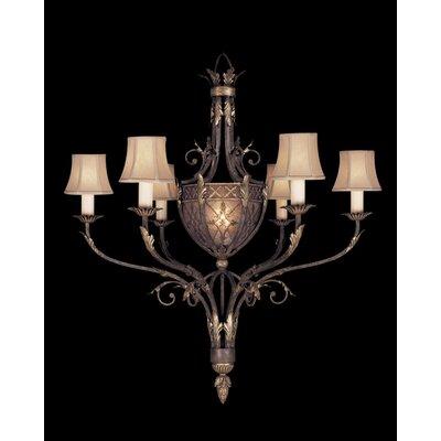 Fine Art Lamps Villa 1919 Six Light Chandelier in Rich Umber