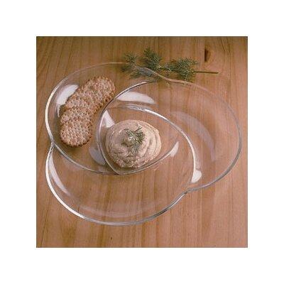 William Bounds Grainware Necessities Swirl Divided Serving Dish