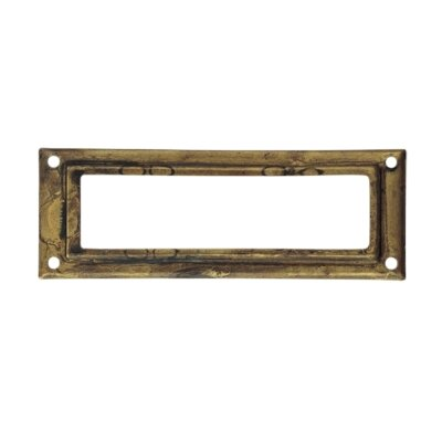 3 in x 1 in Brass Mail Slot Finish: Distressed Antique Brass