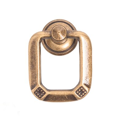 Vienna 1800 Circa Ring Pull Finish: Dark Antique Brass