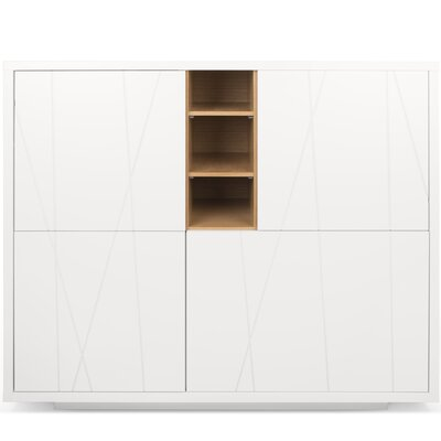 Crossen Cupboard with Notched Door Accent Cabinet