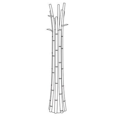 Green Bamboo Light Coat Rack